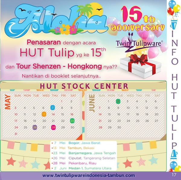 HUT Stock Center Tulipware | Mei - Juni 2015