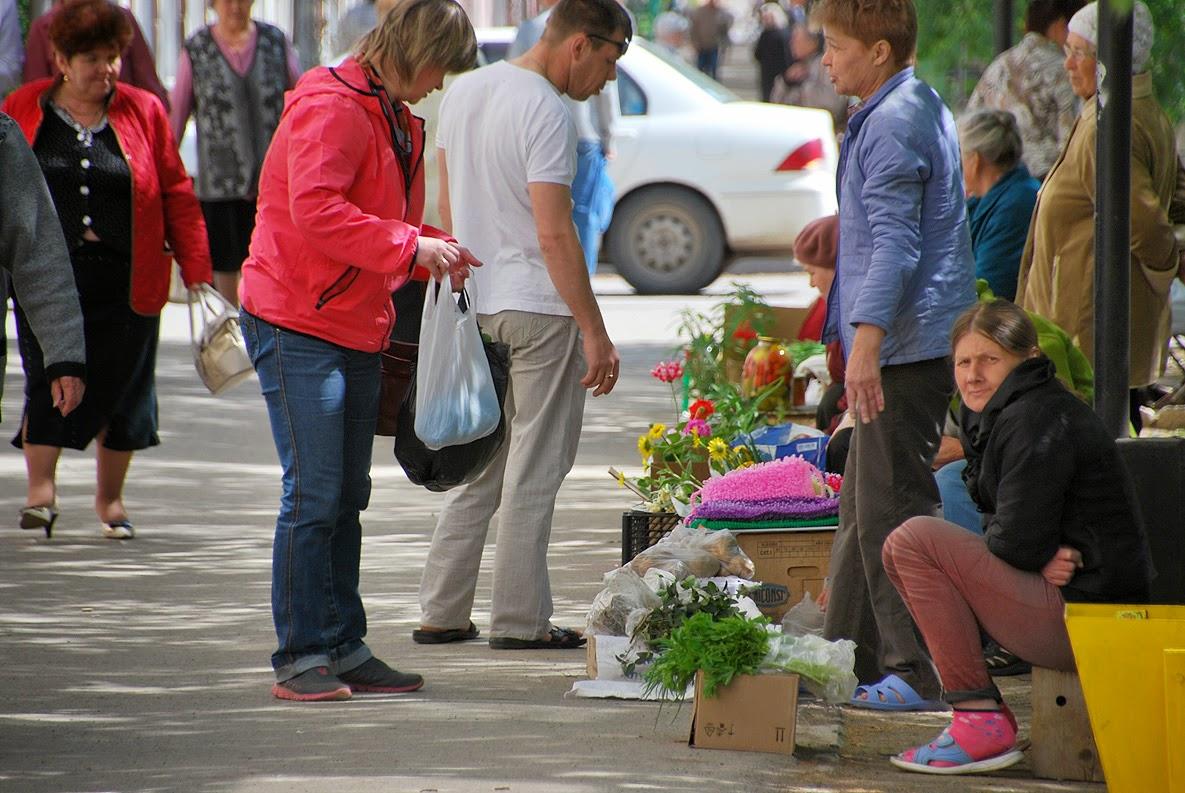 уличные торговцы в Лысьве