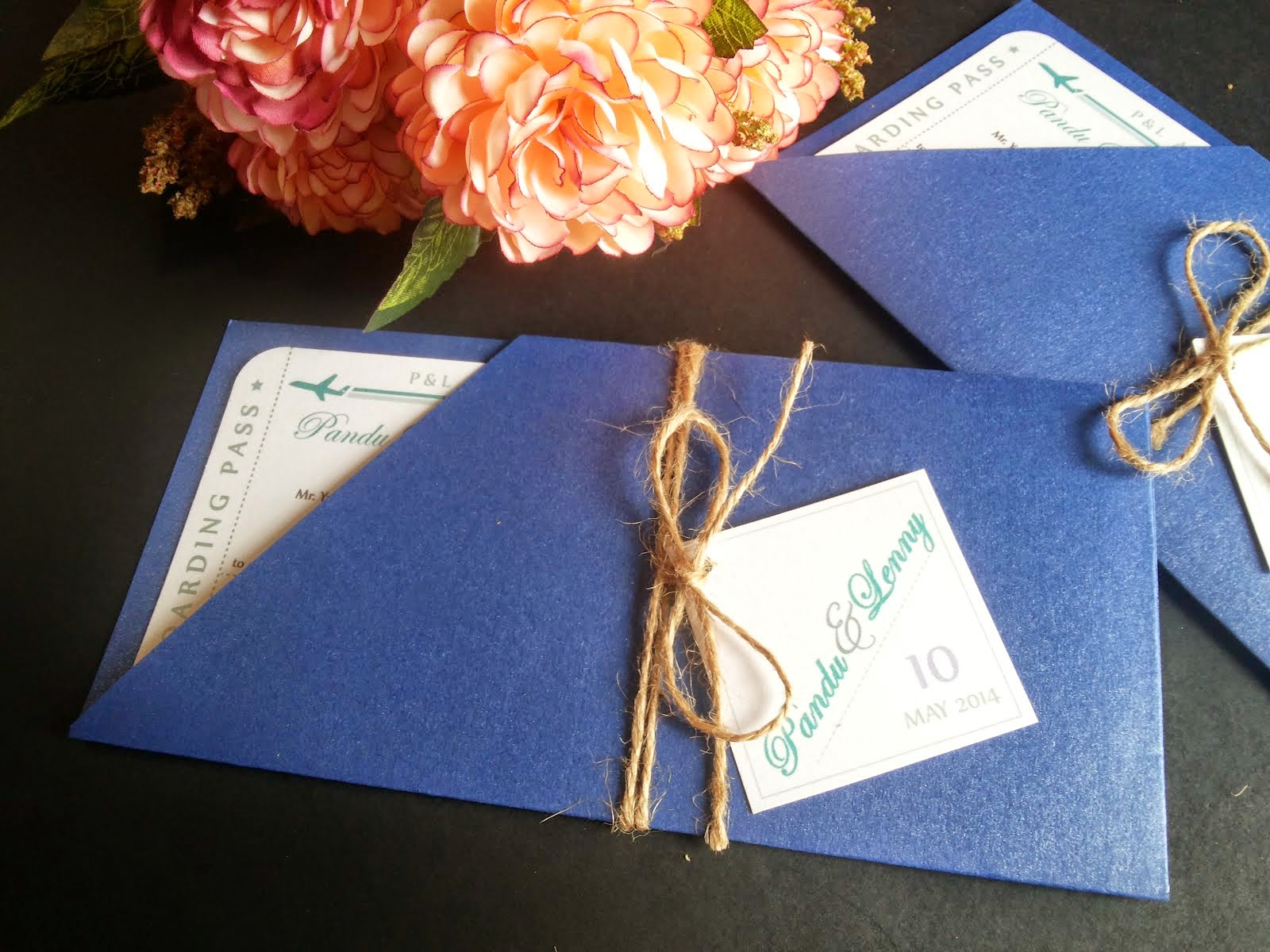 Boarding Pass Wedding Cards