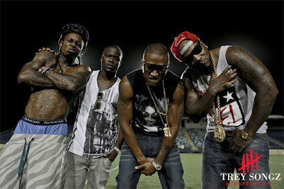 fotos de trey songz young jeezy lil wayne y kevin hart grabando el video de hail mary