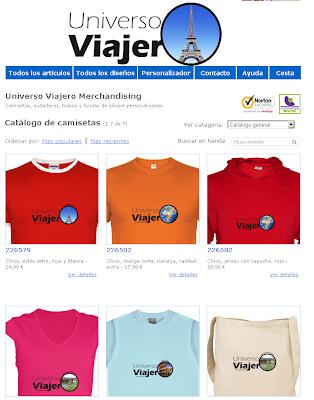 Imagen Tienda Online Univeros Viajero Merchandising