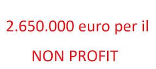 Immagine 2.650.000 euro a disposizione per gli Enti Non Profit