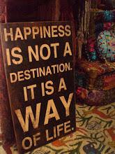 A boldogság nem cél, hanem az életünk módja