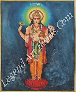 Dhanvantari: Vishnu as the god of 20 medicine.