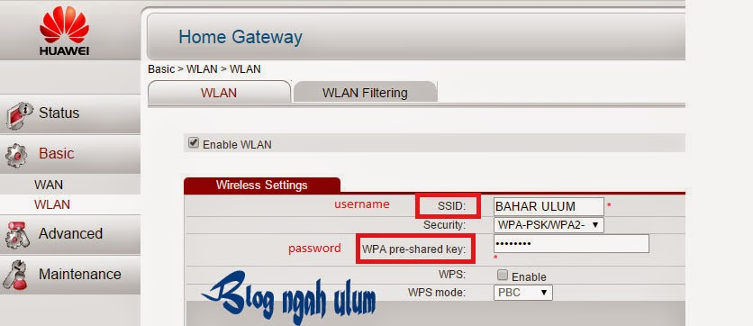 mengganti nama dan password speedy