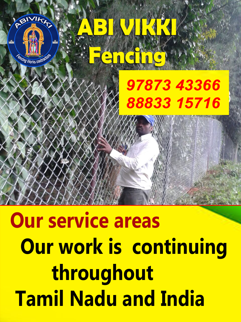 A V Fencing contractors  Chinnasalem Tamil Nadu India,