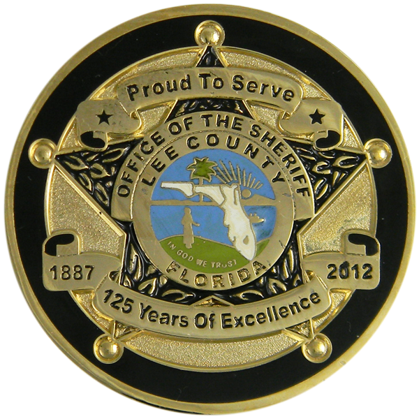 point emblems  lee county sheriff florida 125 years of