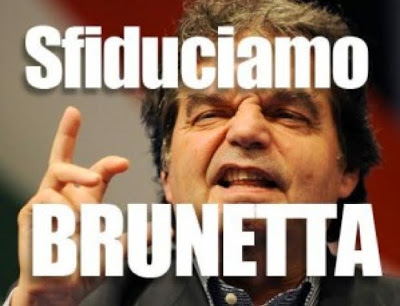 Sfiduciamo Brunetta