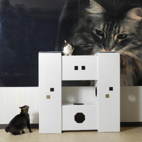 DIY貓咪塔屋 4箱型