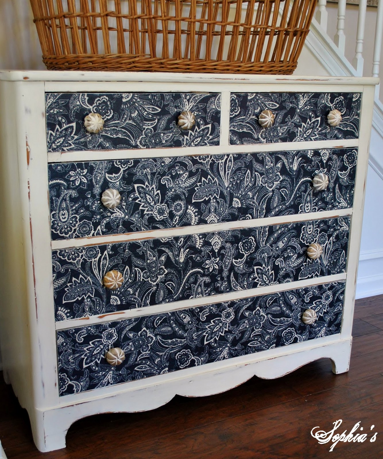 Sophia S Dresser Makeover With Fabric Cloth Cover Bestdressers 2017