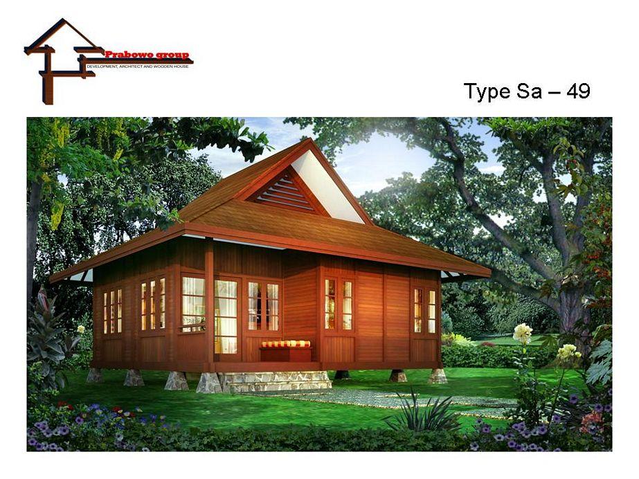 gambar rumah kayu modern menarik