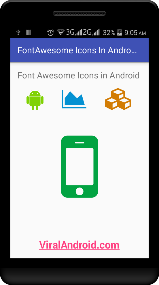 How to Use Font Awesome Icons in Android Application