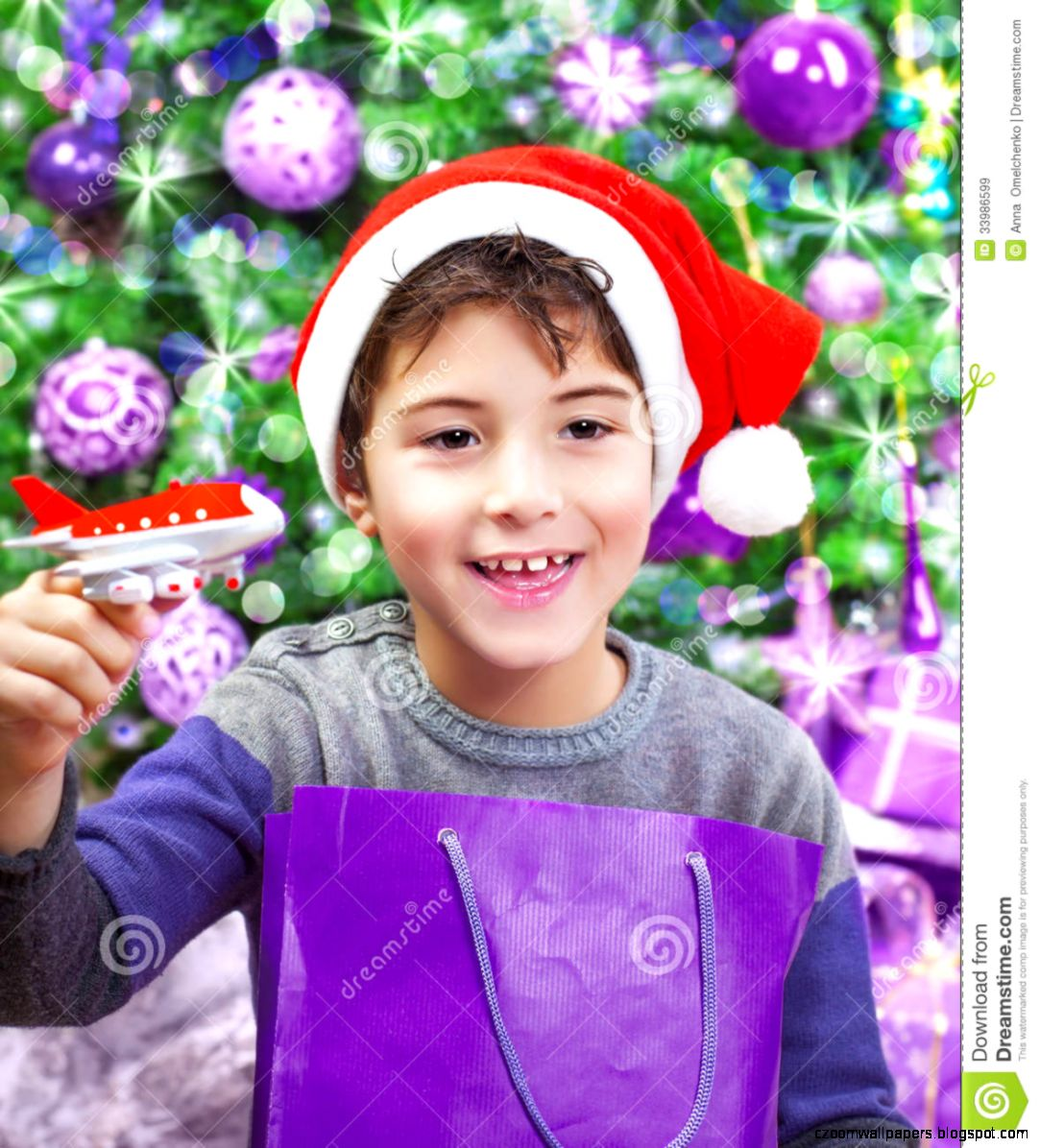 Boy Enjoying Christmas Gift Royalty Free Stock Images   Image