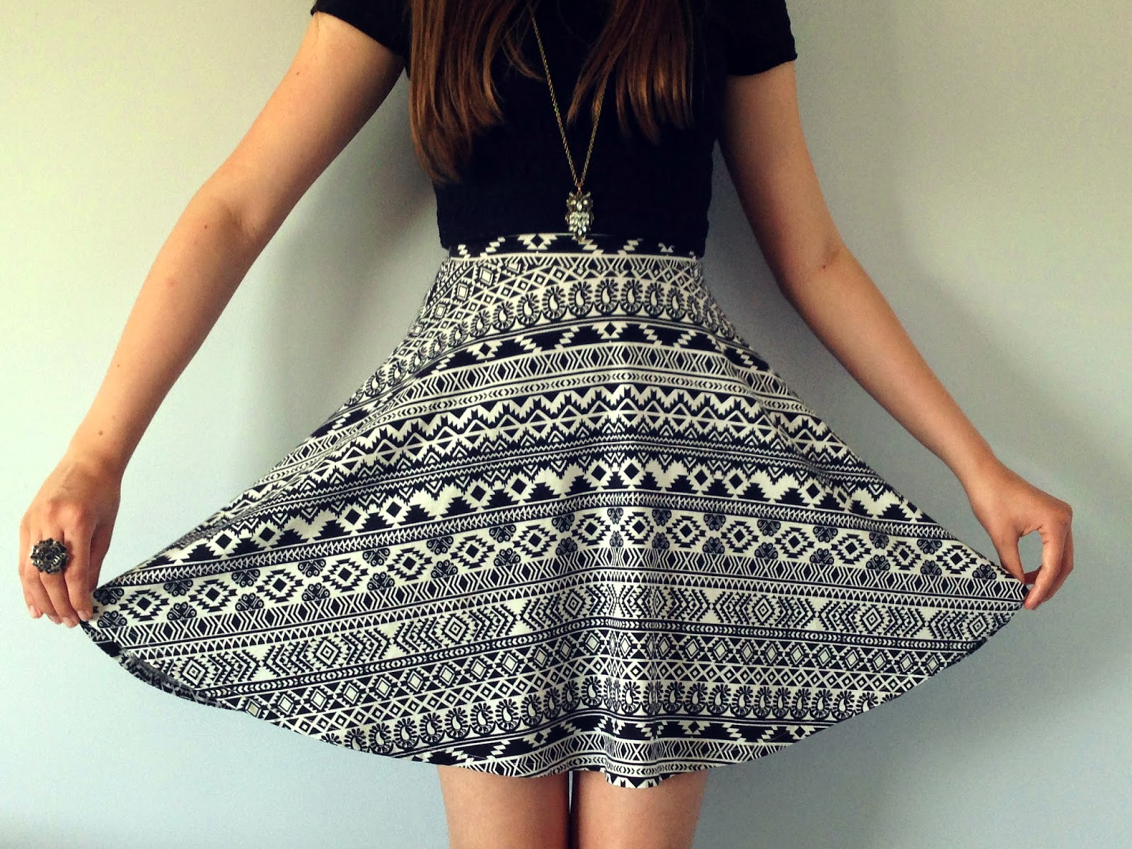 Tribal Print Dress Outfit