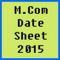 University of Karachi UOK MCom Date Sheet 2016 Part 1 and Part 2