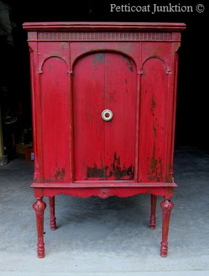 Painted Cabinet with Miss Mustard Seed Milk Paint