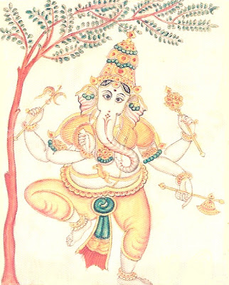 Picture of Nritya Ganapati Form of Hindu God Ganesha