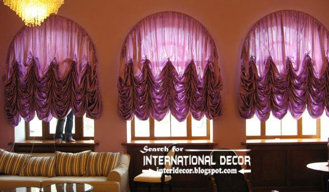 largest catalog of purple curtains and drapes, French purple curtains for arched windows
