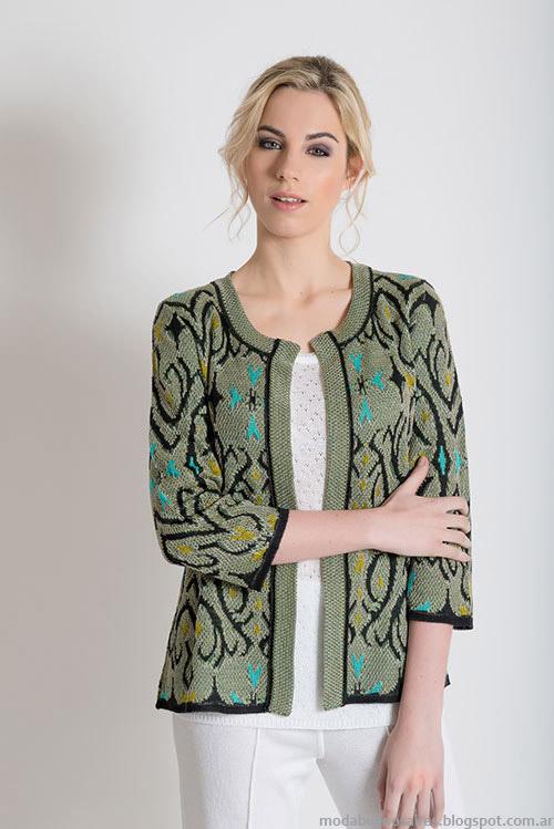 Moda primavera verano 2015 chaqueta tejida.