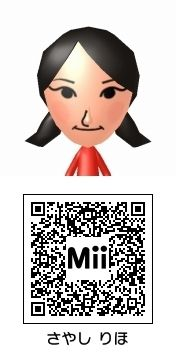 鞘師里保(モーニング娘。)のMii QRコード トモダチコレクション新生活