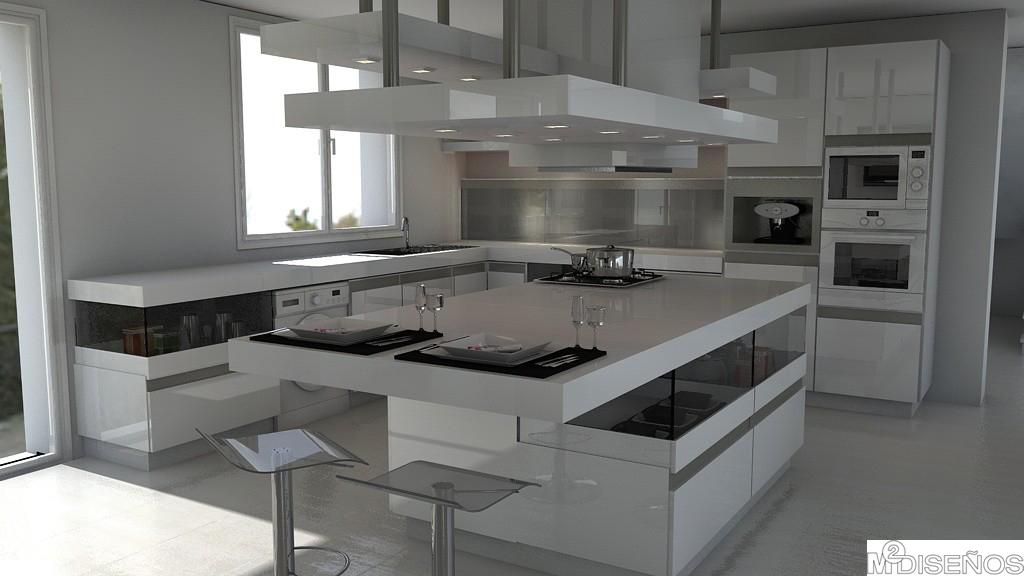Apartamento en marruecos blancos puros el minimalismo es for Cocinas con isla precios