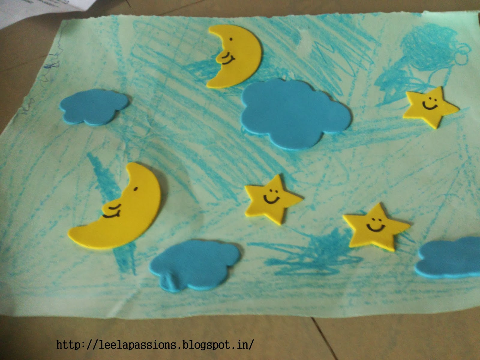 Little Medha Growing Up: Sun and Moon craft