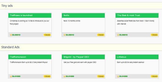 Work Mode: New Site Trafficsec Earn $0.01per click