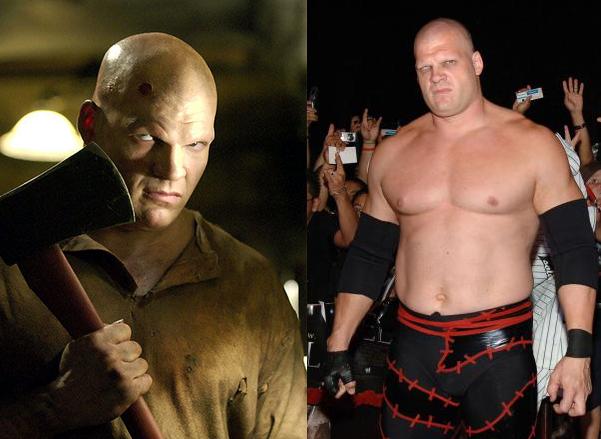 luchador de la wwe kane en su más reciente producción de cine See No Evil en la que interpreta a un villano