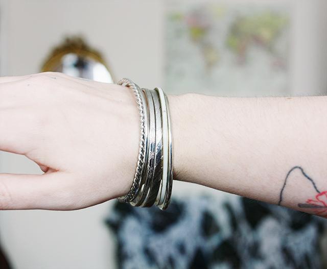 silver bracelets from primark