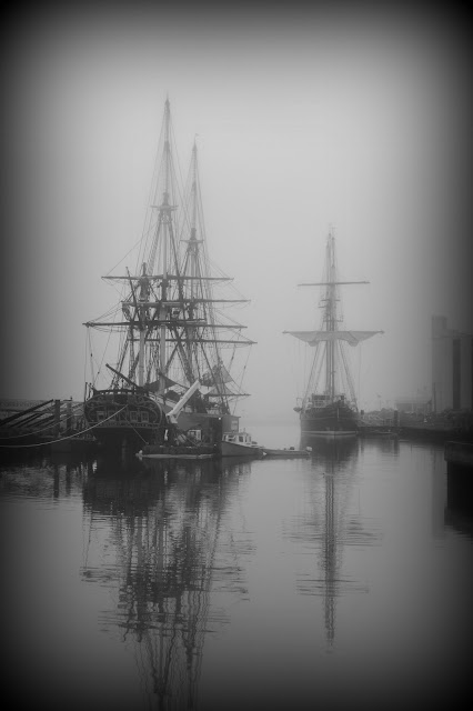 Friendship of Salem, Peacemaker, Salem, Massachusetts, fog, old, tallships
