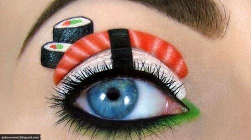Menarik Make Up Artist Melukis Sushi Kucing dan Itik di Kelopak Mata