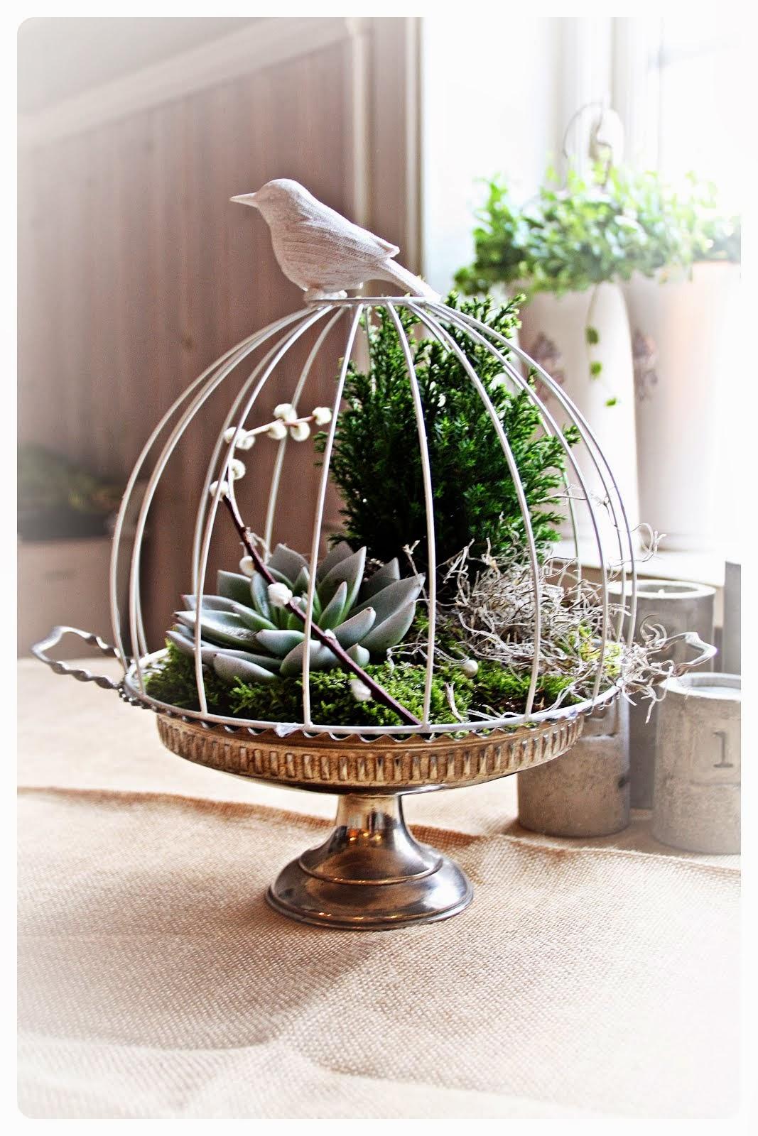Fågelbur av en lampskärm