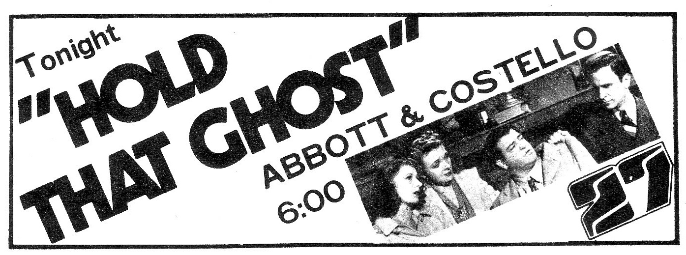 Hold That Ghost March 20 1976