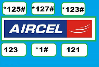 Aircel ALL USSD Codes List with details