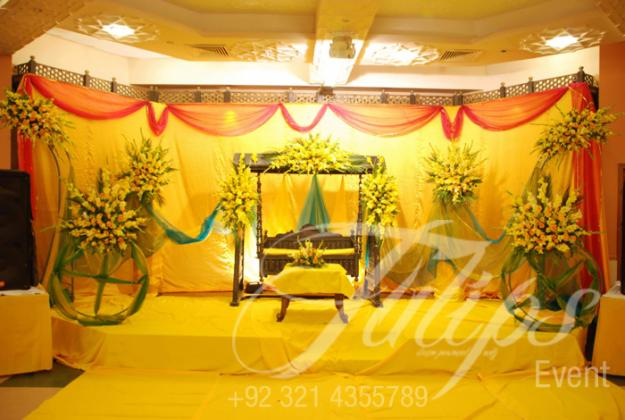 Mehndi Stage Decoration : Mehndi stage decoration fashion in new look