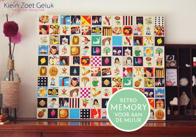 Retro Memorie voor aan de muur