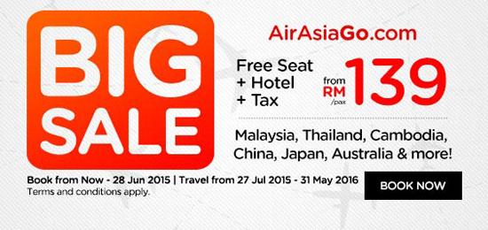 Promosi 3 Juta Tiket Percuma AirAsia