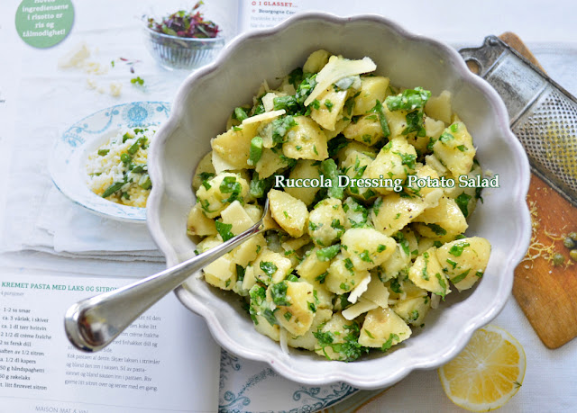 potato salad with ruccola dressing
