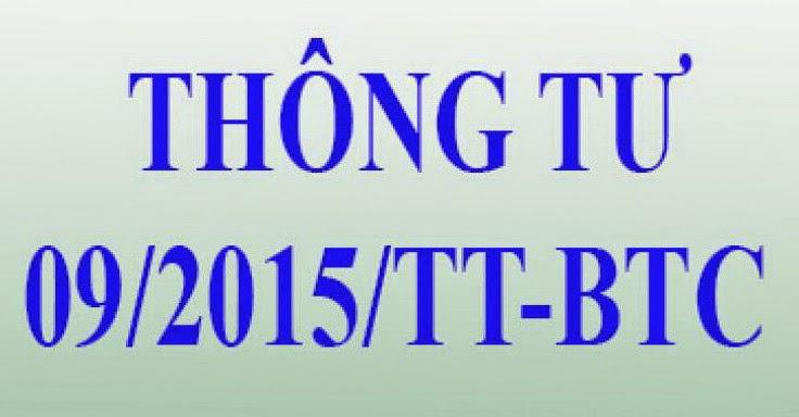 09/2015/TT-BTC