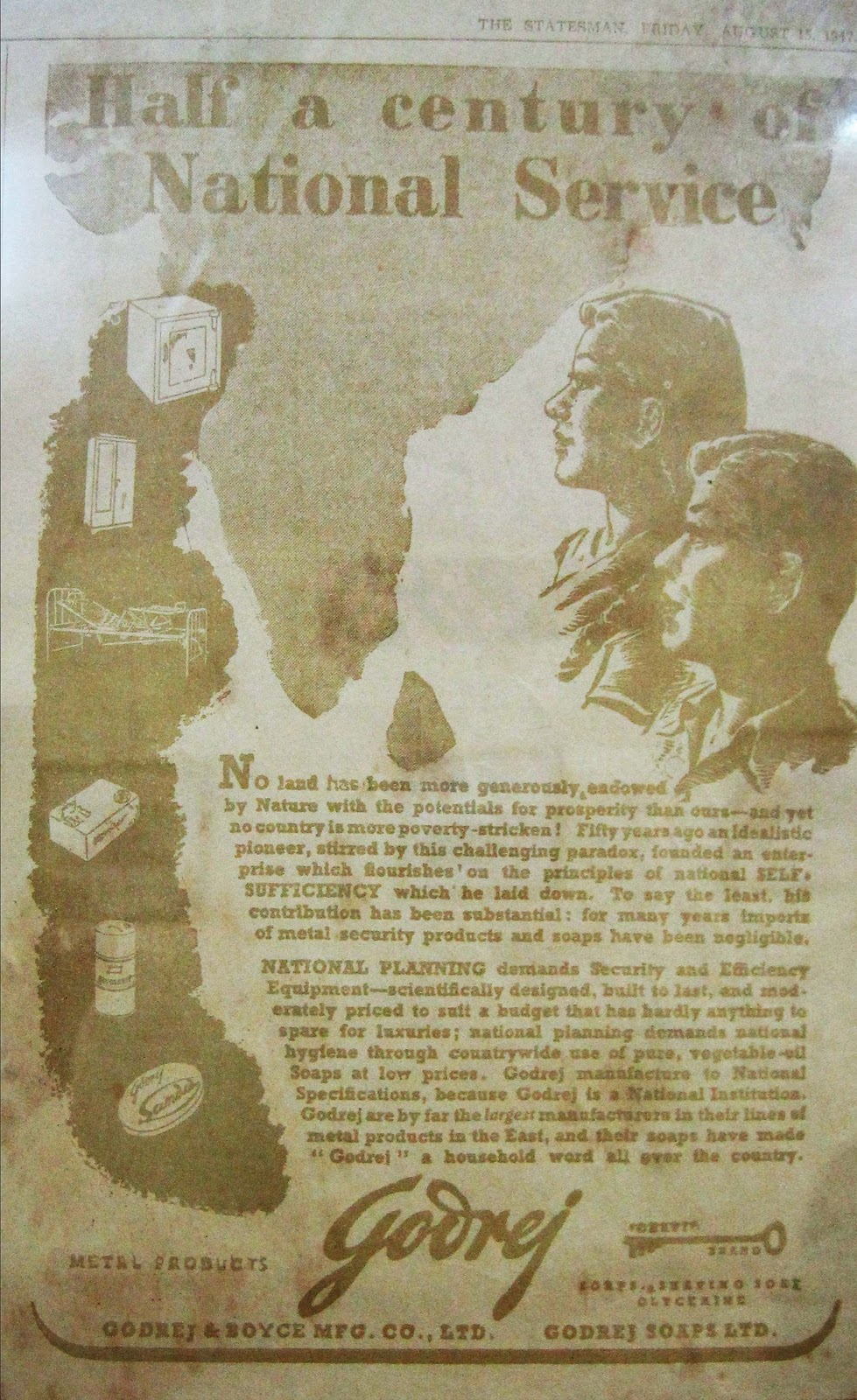 Advertisement that were released in newspapers on Independence Day - 15th Aug 1947