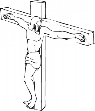 Jesus On The Cross Coloring Page