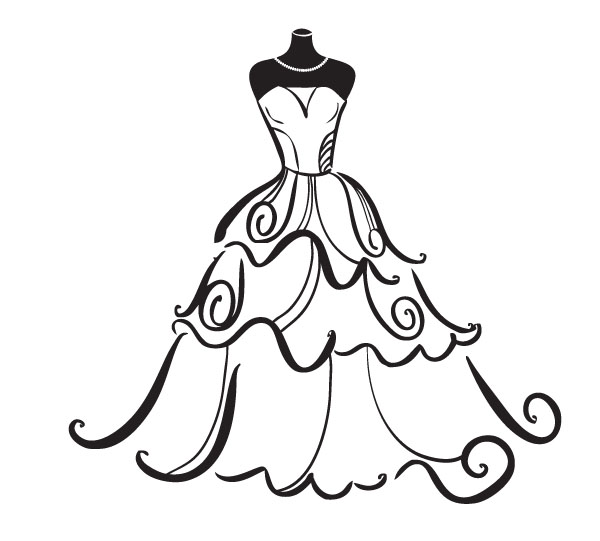 wedding gown clipart free - photo #4