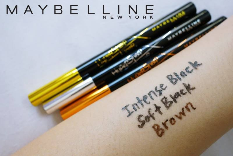 Maybelline Hypersharp Liner Laser Precision swatch comparison