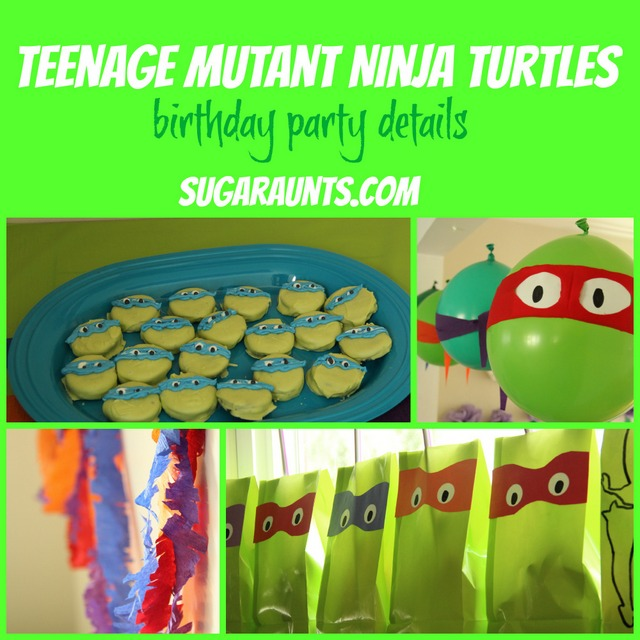 Teenage Mutant Ninja Turtle Party Details