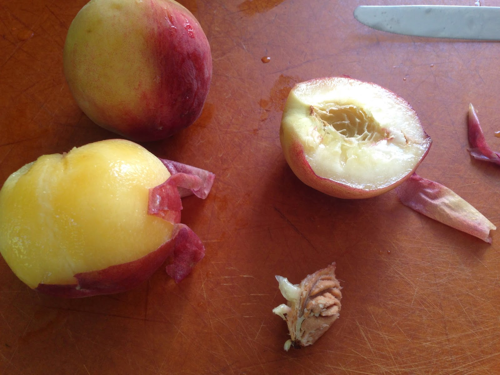 peel peaches