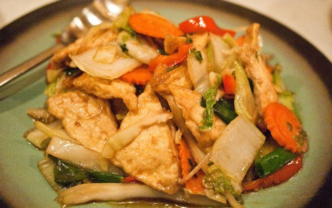 Crisp Fried Tofu with Carrots and Chinese Cabbage