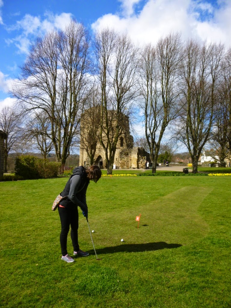 Mini Golf at the Castle Yard in Knaresborough
