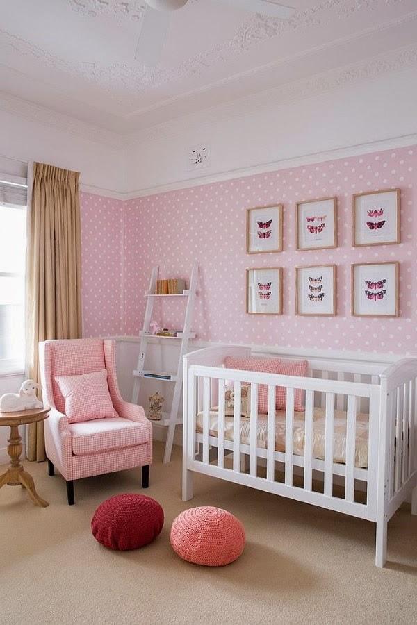 Dormitorios color rosa para beb s dormitorios colores y for Dormitorio rosa