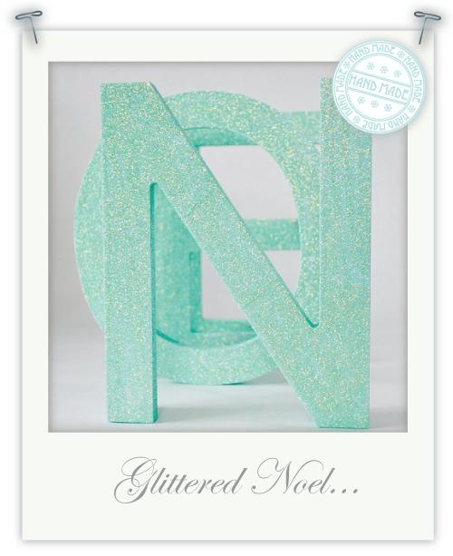 Glittered Noel wooden letters