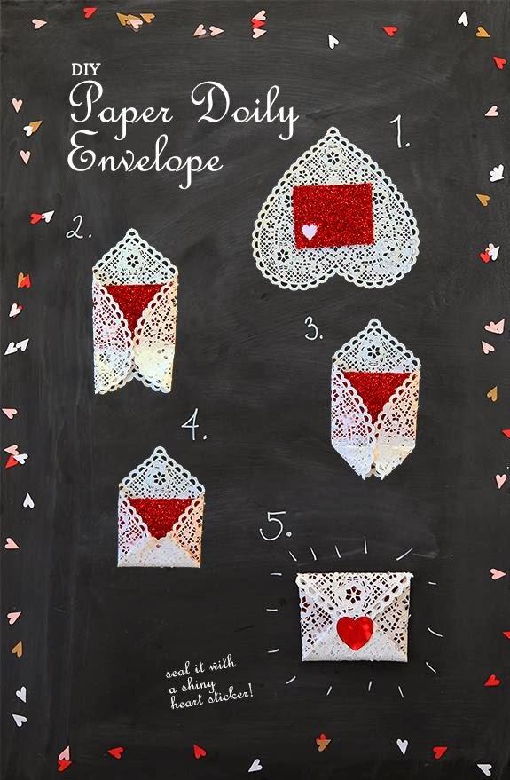 koperty pełne miłości czyli walentynkowe inspiracje DIY z papieru koperta z serwetki